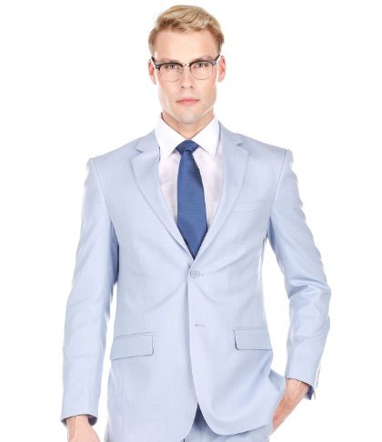 Slim Light Blue Suit - Two Piece