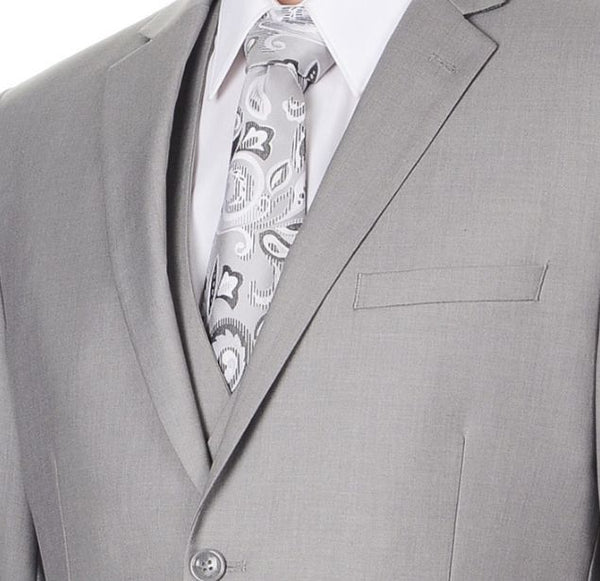 Light Grey Three Piece Wedding Suit