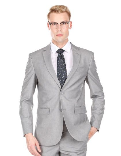 Slim Grey Suit - Two Piece