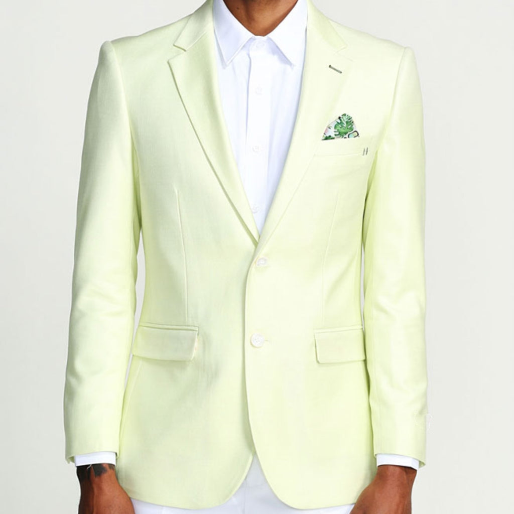 Mint Casual Blazer Two Button Notch Lapel