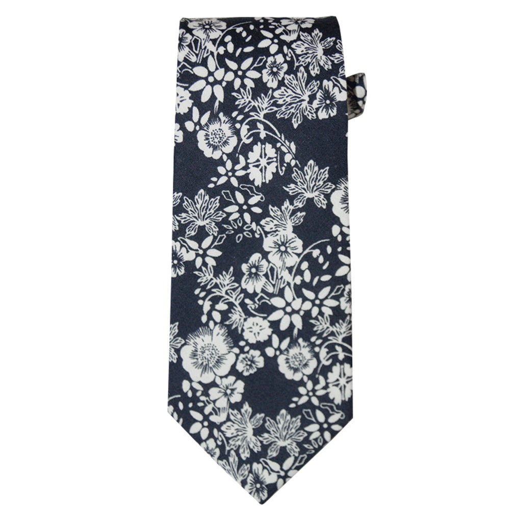 e073bc238c94 Navy and White Floral Ties