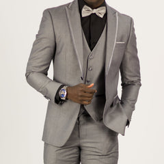 Light Grey Three Piece Wedding Tux