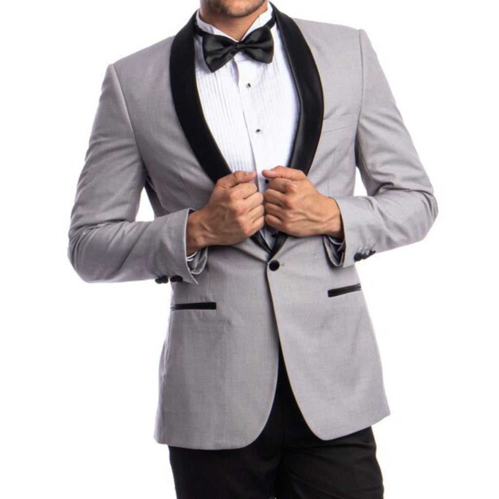 Slim Light Grey Tuxedo
