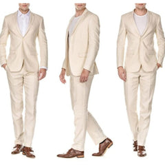 Linen Oat Two Piece Suit