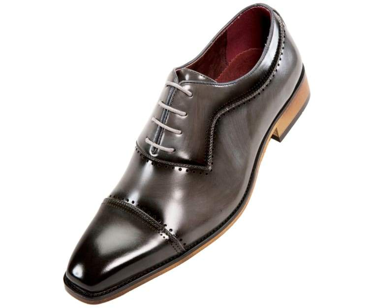 Grey Oxford Style Shoe