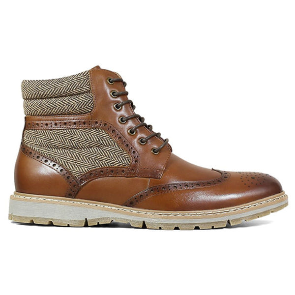 Pecan Wingtip Lace Boot