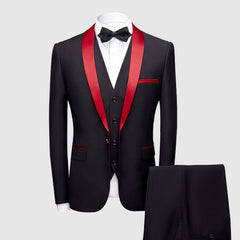 KCT International Black and Red Tuxedo