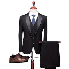 KCT England Style Tux Slim Fit 3 Piece Suits Set