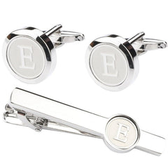 Letter French Cuffs A-Z + Letter Tie Clip