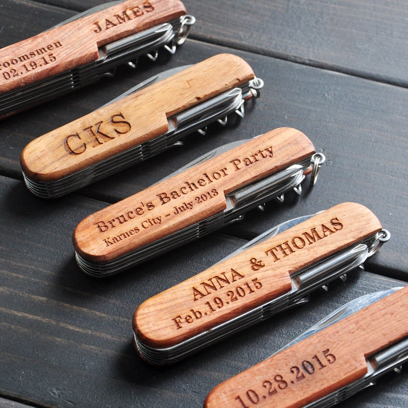 Personalized Pocket Knife - Customized Groomsmen Gifts