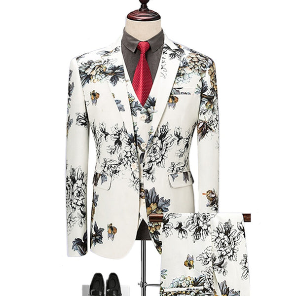 KCT Floral Suit -  Blazers Pants Vest Sets