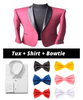 Prom Package Burgundy Tuxedo + WhiteShirt + Any Bowtie