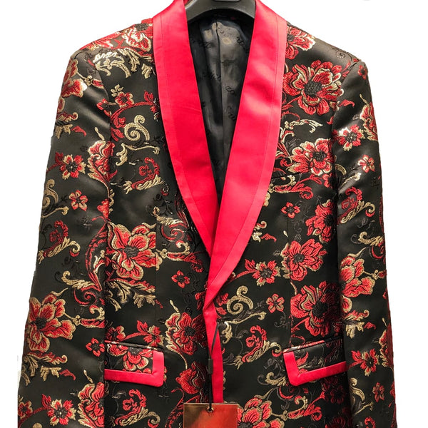 Red and Gold Prom Blazer
