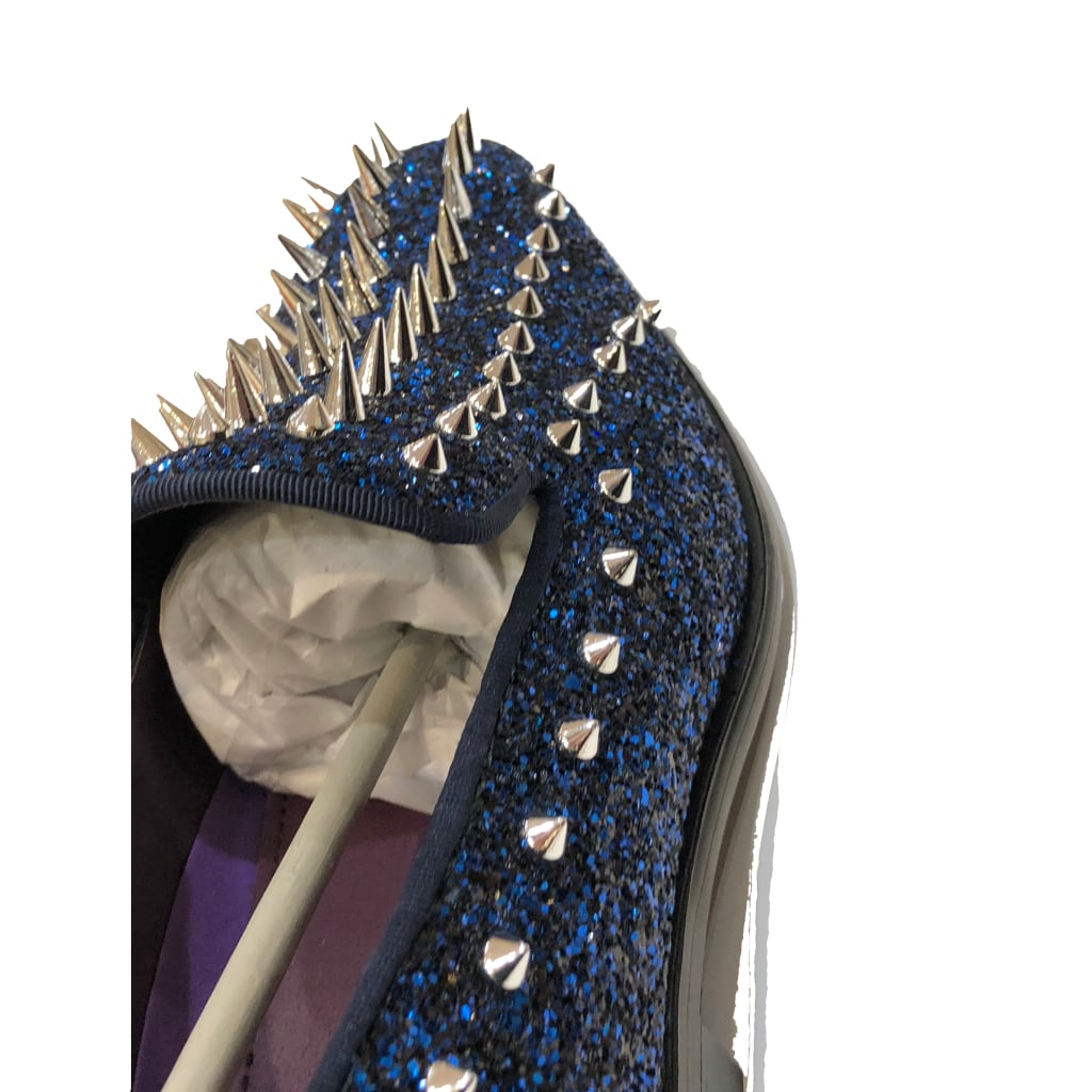 Royal Spiked Prom Shoes