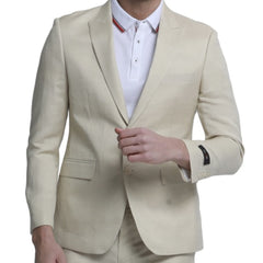 Cream Slim Suit