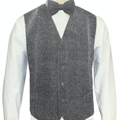 Silver Sparkle Vest and Bowtie