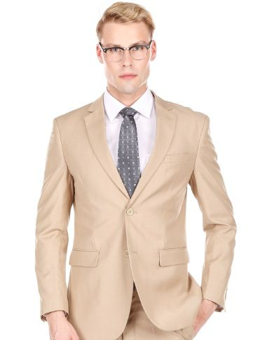 Slim Tan Suit - Two Piece
