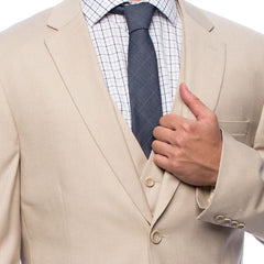 Tan Three Piece Wedding Suit