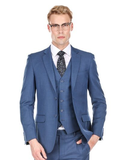 Slim Blue Suit - Three Piece