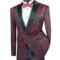 Wine Pattern Blazer Only