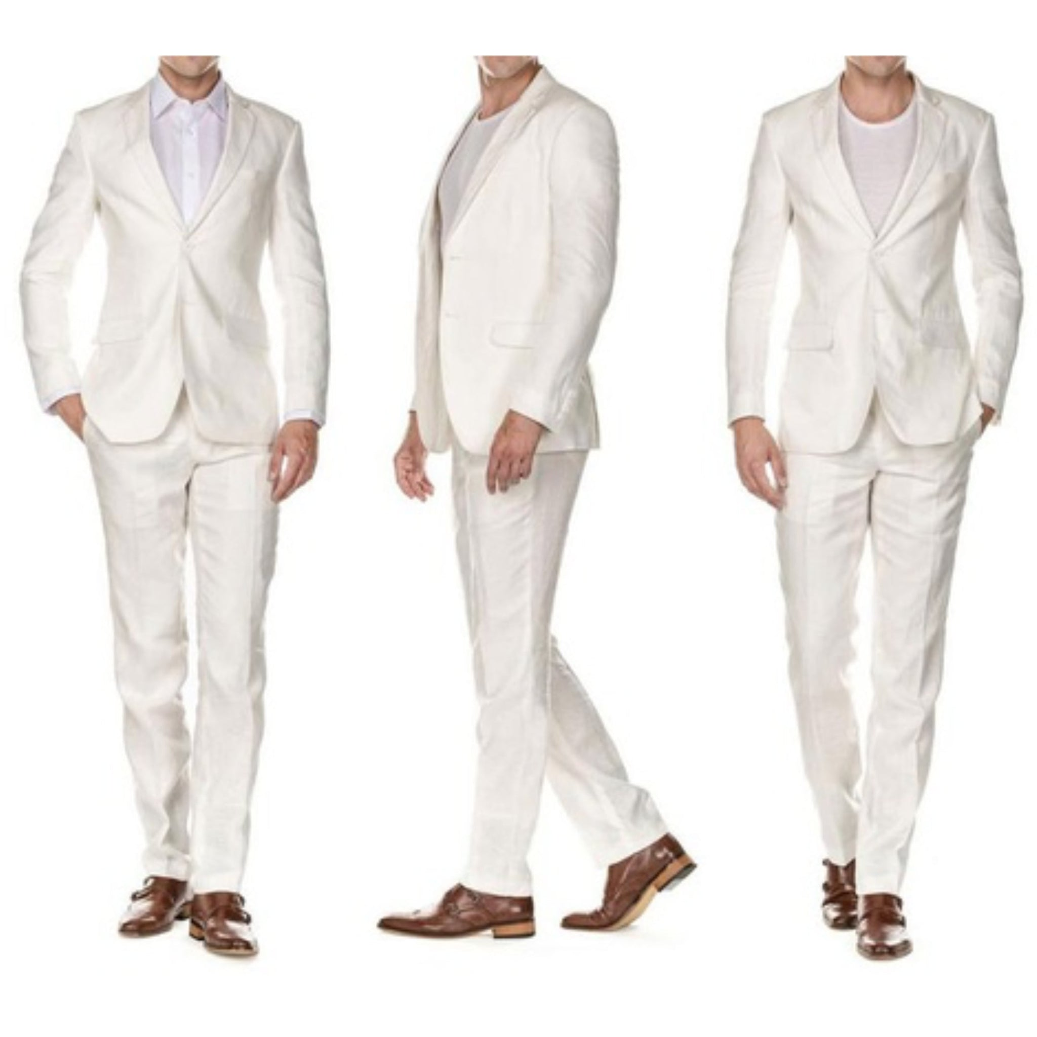 Linen White Two Piece Suit
