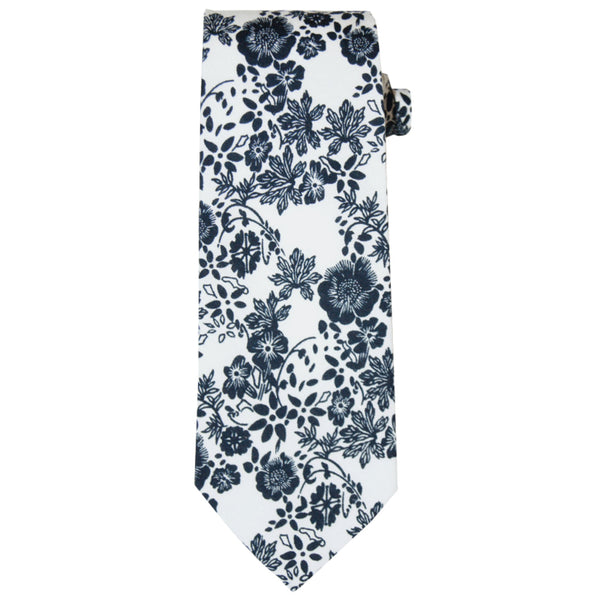Blue and White Floral Ties