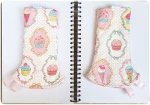 Dreamy Cupcakes Reversible Curved Droolpads and Bib Set - My Babblings™