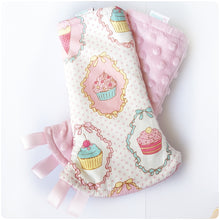 Dreamy Cupcakes Reversible Curved Droolpads and Bib Set-Droolpads-My Babblings-Pink Minky-Dreamy Cupcakes Droolpads only-My Babblings™