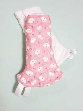 Mochi Rabbit Reversible Curved Droolpads and Bib Set - My Babblings™