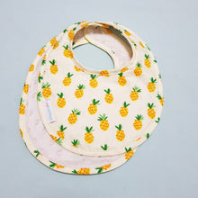 Lucky Pineapples Reversible Curved Droolpads and Bib Set-Droolpads-My Babblings-Lucky Pineapples Bib only-My Babblings™