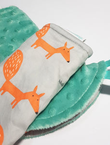 Fire Fox  Reversible Curved Droolpads and Bib Set - My Babblings™