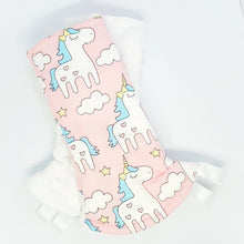 Magical Unicorn Reversible Curved Droolpads and Bib Set-Droolpads-My Babblings-White Minky-Magical Unicorn Droolpads only-My Babblings™