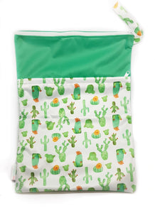 My Babblings Large Reusable Wet Bag-Wet Bag-My Babblings-Cactus Delight-My Babblings™