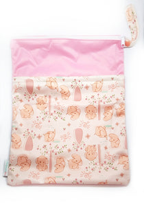 My Babblings Large Reusable Wet Bag-Wet Bag-My Babblings-Gentle Elephants-My Babblings™