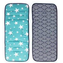 Reversible Stroller Seat Liner-Stroller Protectors-My Babblings™-Reversible Shining Stars and Oceanic Waves-Regular Stroller (34x82cm)-My Babblings™