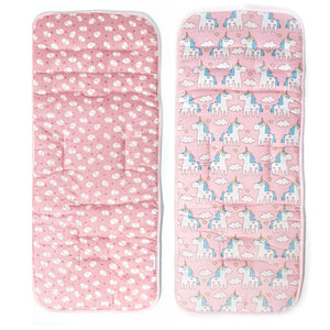 Reversible Stroller Seat Liner-Stroller Protectors-My Babblings™-Reversible Mochi Rabbit and Magical Unicorn-Regular Stroller (34x82cm)-My Babblings™