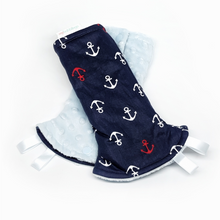 Ship Ahoy Reversible Curved Droolpads and Bib Set-Droolpads-My Babblings-Ship Ahoy Droolpads only-My Babblings™