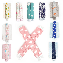 Stroller Strap Protectors-Stroller Protectors-My Babblings™-Pink Double Prints (Magical Unicorn and Mochi Rabbit-My Babblings™
