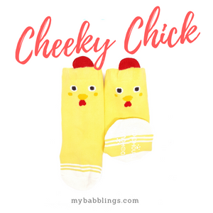 New Animal Knee High Socks with Ears-Baby Socks-My Babblings-Baby Size-Cheeky Chick-My Babblings™