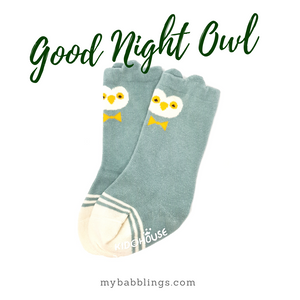 New Animal Knee High Socks with Ears-Baby Socks-My Babblings-Baby Size-Good Night Owl-My Babblings™