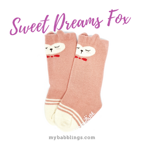 New Animal Knee High Socks with Ears-Baby Socks-My Babblings-Baby Size-Sweet Dreams Fox-My Babblings™