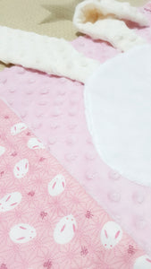 SPECIAL Easter Reversible Minky Blanket-Baby Blanket-My Babblings™-Easter Bunny 3D Blanket-My Babblings™