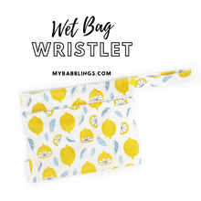 My Babblings Reusable Wet Bag Wristlet-Wet Bag-My Babblings-Lemon Wonder-My Babblings™