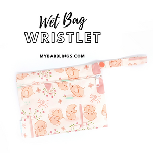 My Babblings Reusable Wet Bag Wristlet-Wet Bag-My Babblings-Gentle Elephant-My Babblings™
