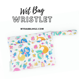 My Babblings Reusable Wet Bag Wristlet-Wet Bag-My Babblings-Mermaid Tails-My Babblings™