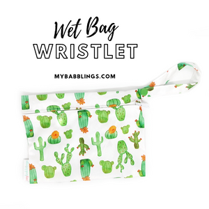 My Babblings Reusable Wet Bag Wristlet-Wet Bag-My Babblings-Cactus Delight-My Babblings™
