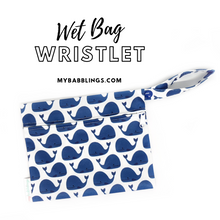 My Babblings Reusable Wet Bag Wristlet-Wet Bag-My Babblings-Travelling Whales-My Babblings™