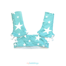 Full Droolpad Set (Tula Explore and Ergobaby)-Droolpads-My Babblings-Tula Explore Shining Star with light blue Minky-My Babblings™