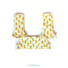 Full Droolpad Set (Tula Explore and Ergobaby)-Droolpads-My Babblings-Tula Explore Lucky Pineapple set with cream Minky-My Babblings™