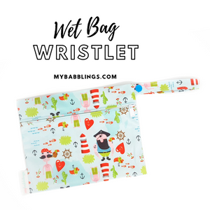 My Babblings Reusable Wet Bag Wristlet-Wet Bag-My Babblings-Pirates Adventure-My Babblings™